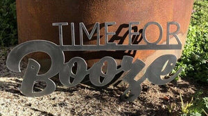 Time for Booze - Woodpost Metalworks