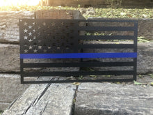 Load image into Gallery viewer, Back the Blue American Flag - Woodpost Metalworks