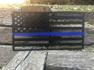 Back the Blue American Flag - Woodpost Metalworks