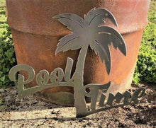 Load image into Gallery viewer, Pool Time Palm Tree - Woodpost Metalworks