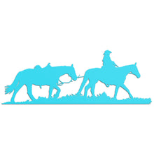 Load image into Gallery viewer, Metal Cowboy Leading Horse Hanging Sign