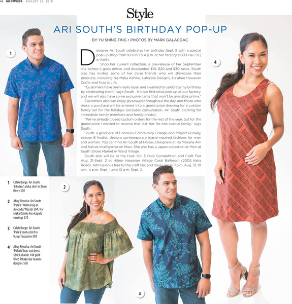 Ari South in the MidWeek, August 29, 2018, p 48