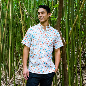 Men's Shirt: Japanese Cotton, Omocha, Cream