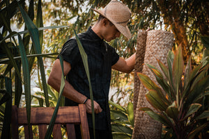 Kaʻōpua Shirt | Black on Black Pūhala