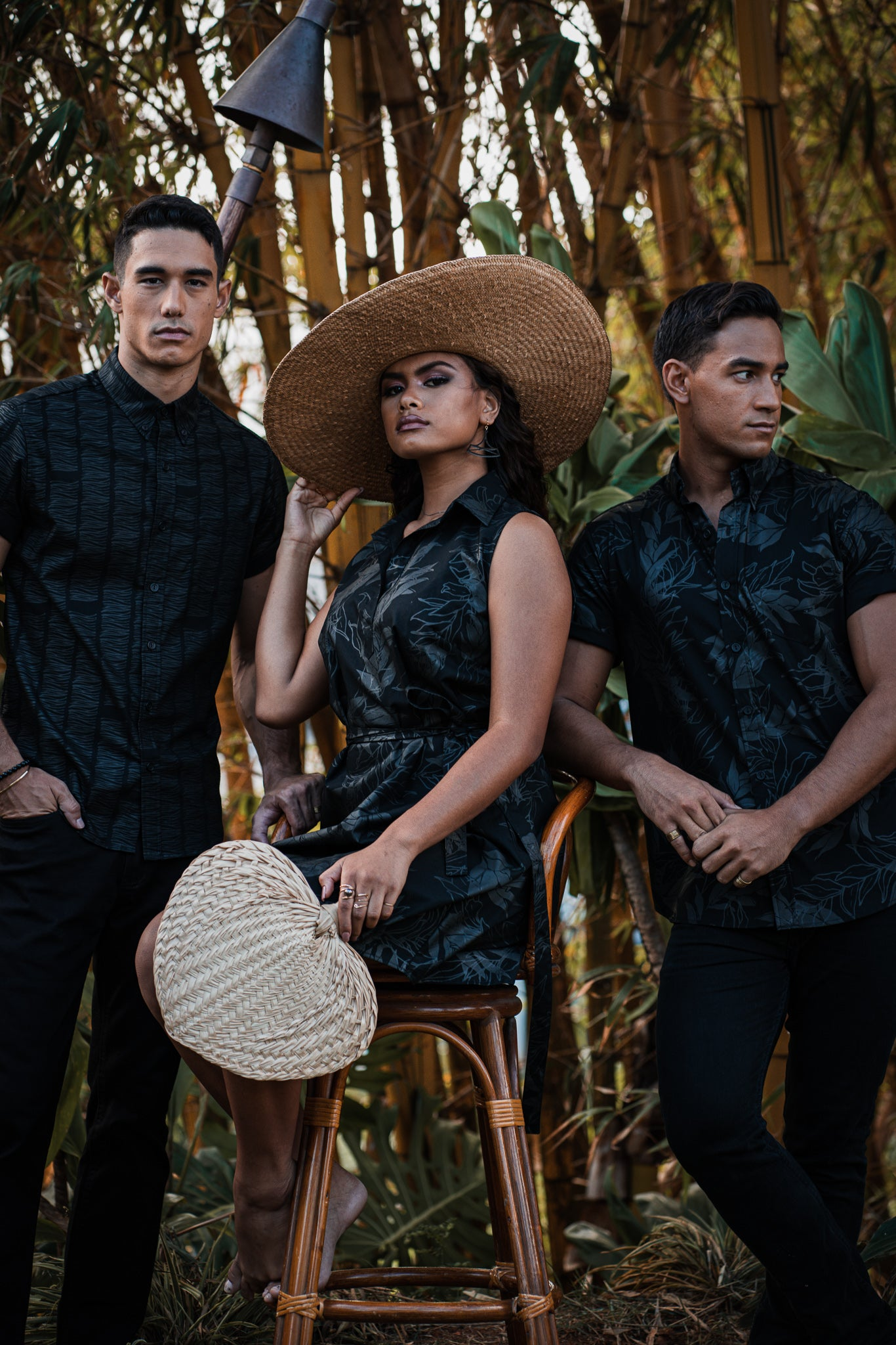 Kauwela Dress | Black on Black Maile