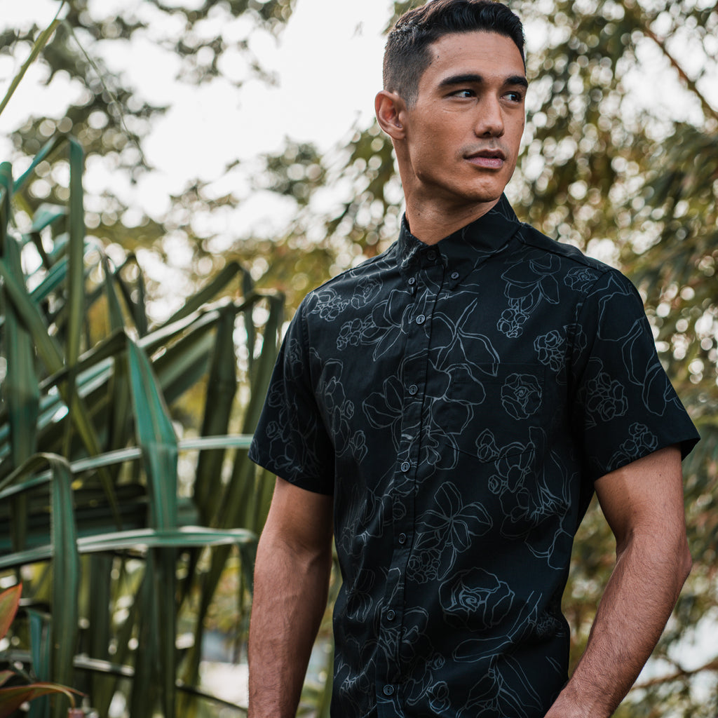Kaʻōpua Shirt | Black on Black Likolani