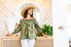 Ulu Longsleeve | Forest Gold Dipped Maile