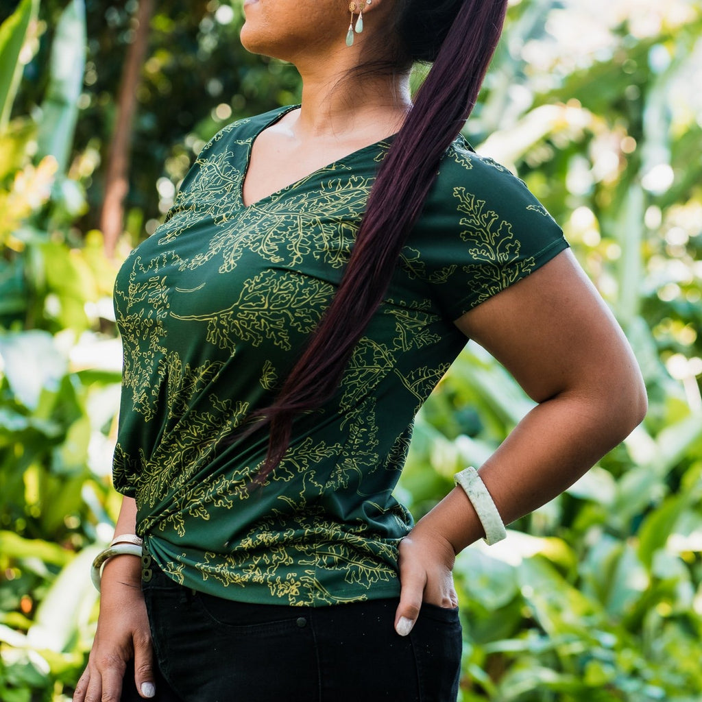 Wili Top | Forest Green Palaʻā