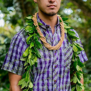 Palaka Shirt | Purple Palaʻā