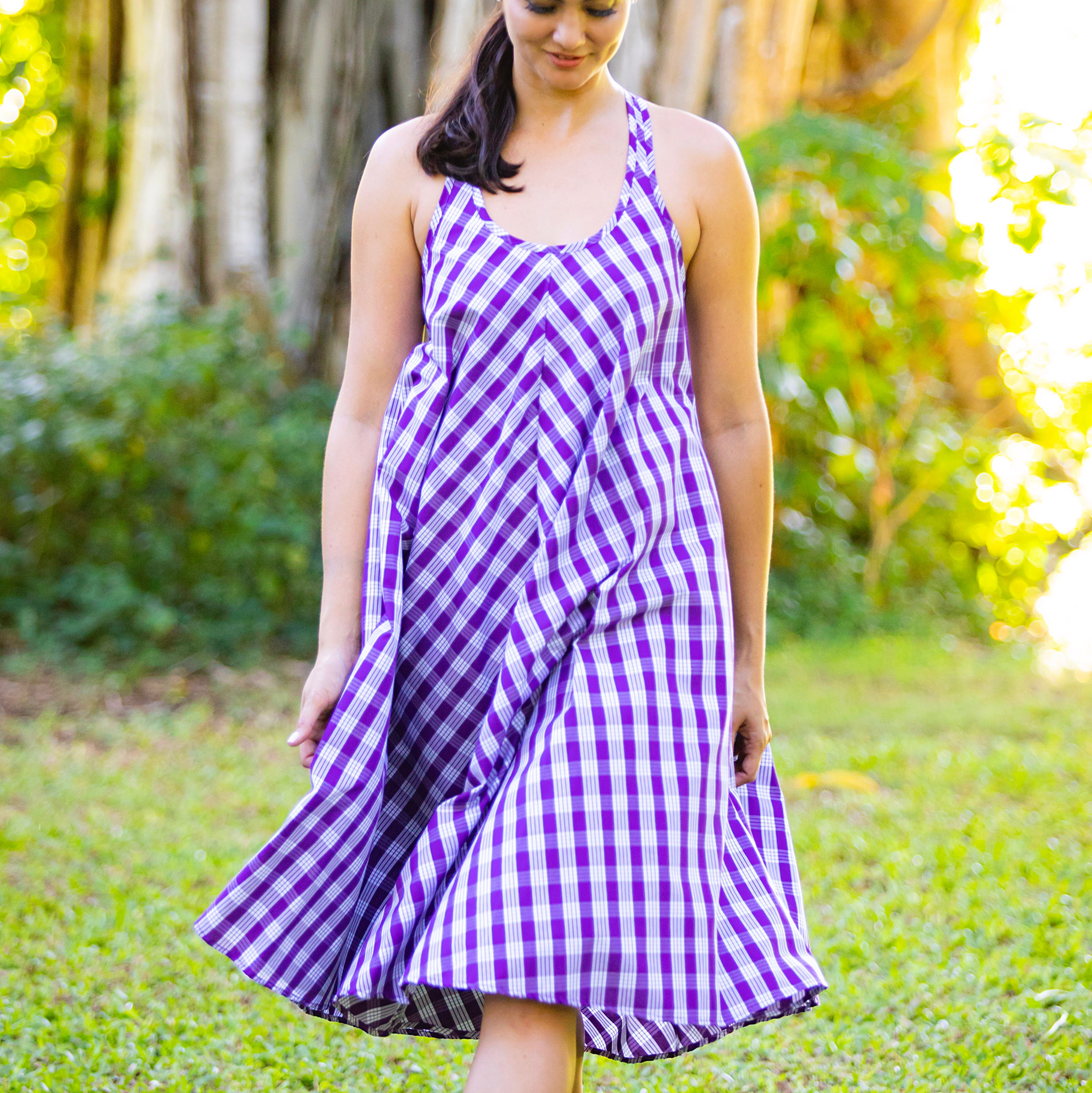 Palaka Nohopaipai Midi Dress | Purple