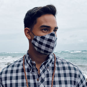 ʻOpihi Mask | Black Palaka