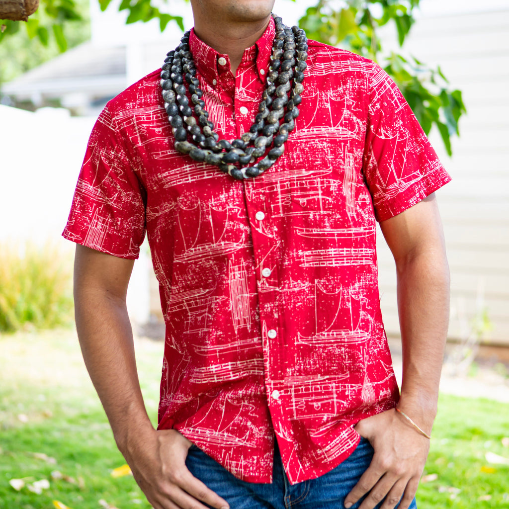 Hawaiʻi Shirt | Red Ka Waʻa