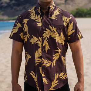 Kaʻōpua Shirt | Kona Coffee Maile