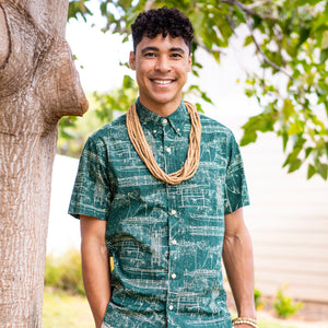 Hawaiʻi Shirt | Green Ka Waʻa