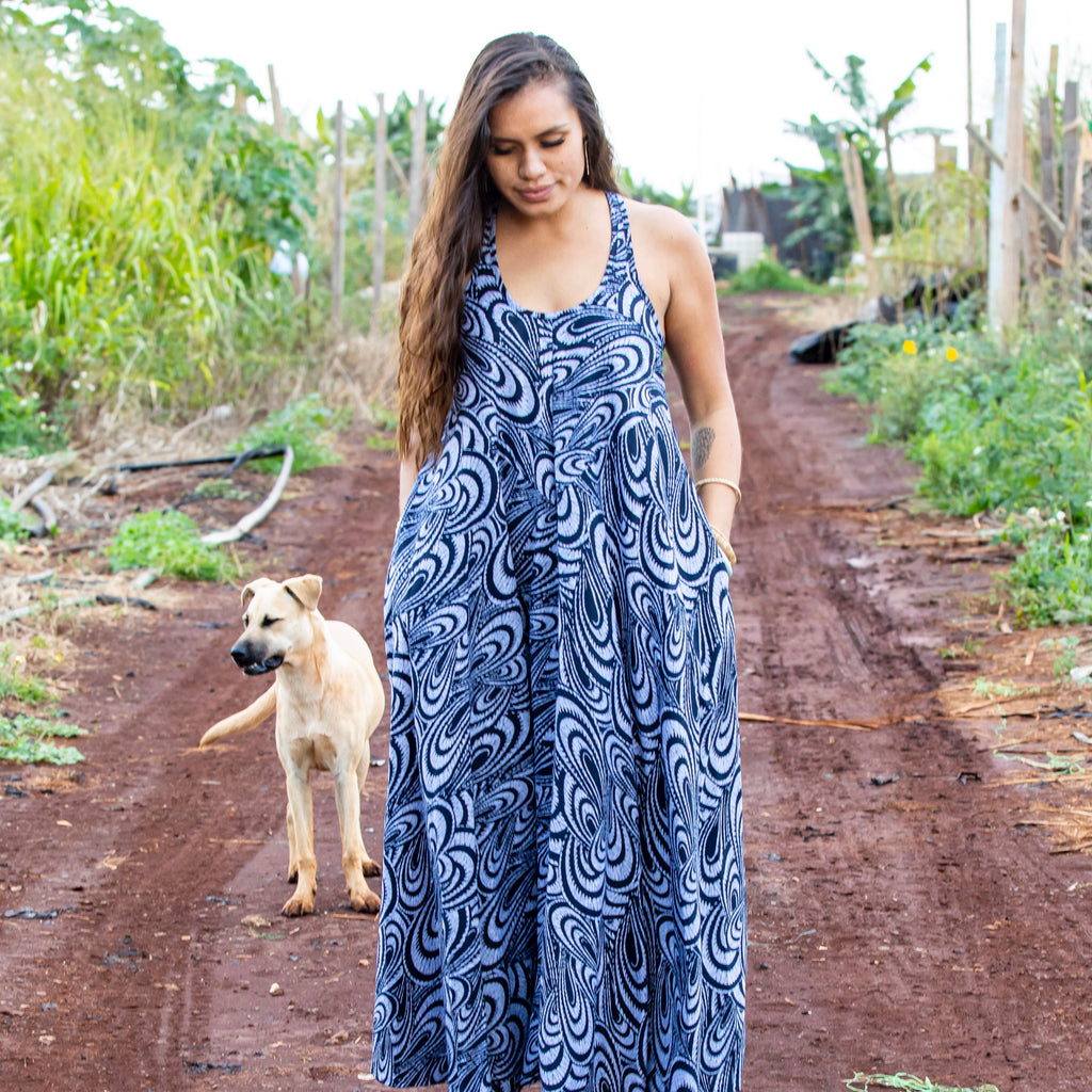 Iāpana Nohopaipai Dress | Navy Timeless