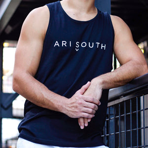 Men's Tank: Logo Tank, Black