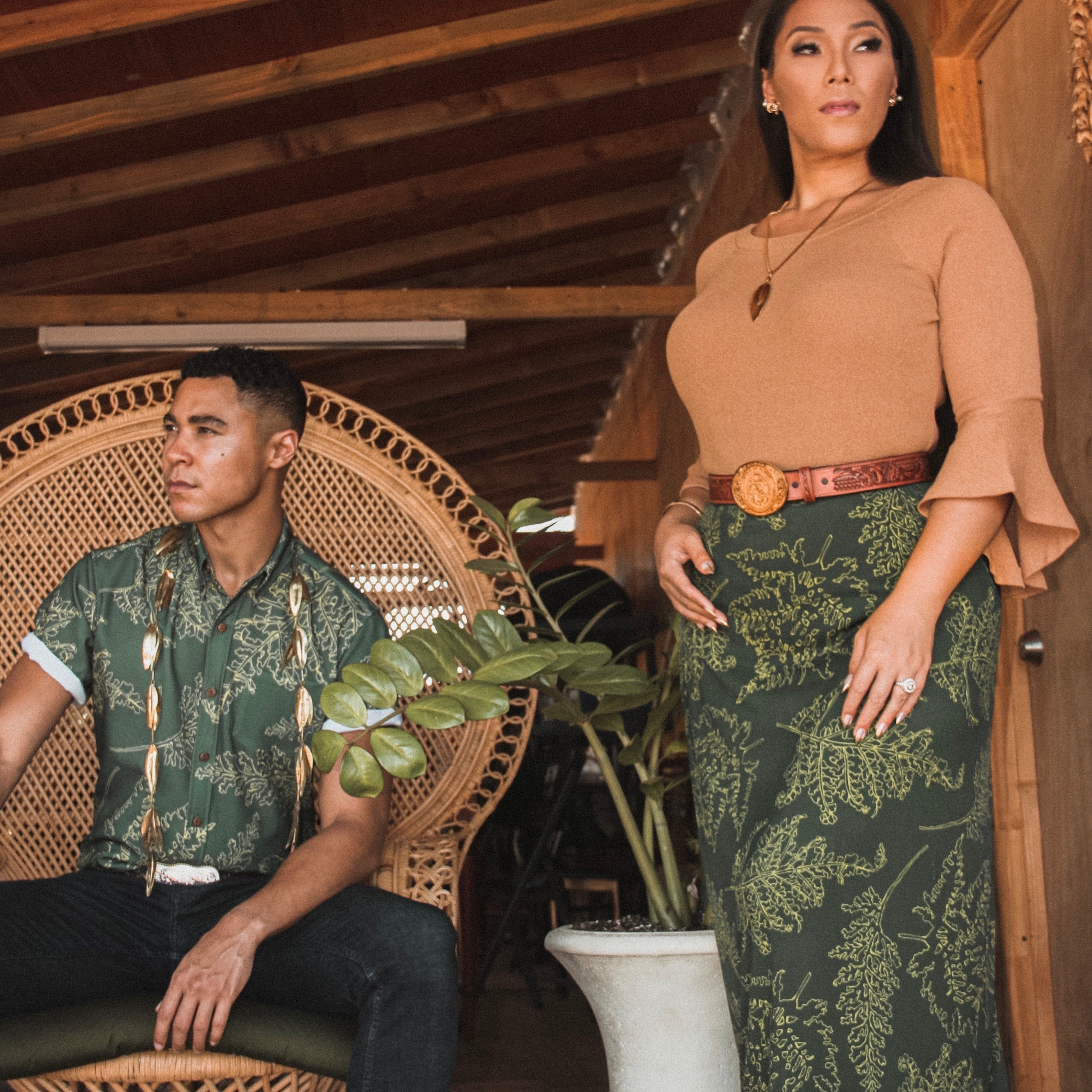 ʻApelila Skirt | Forest Green Palaʻā