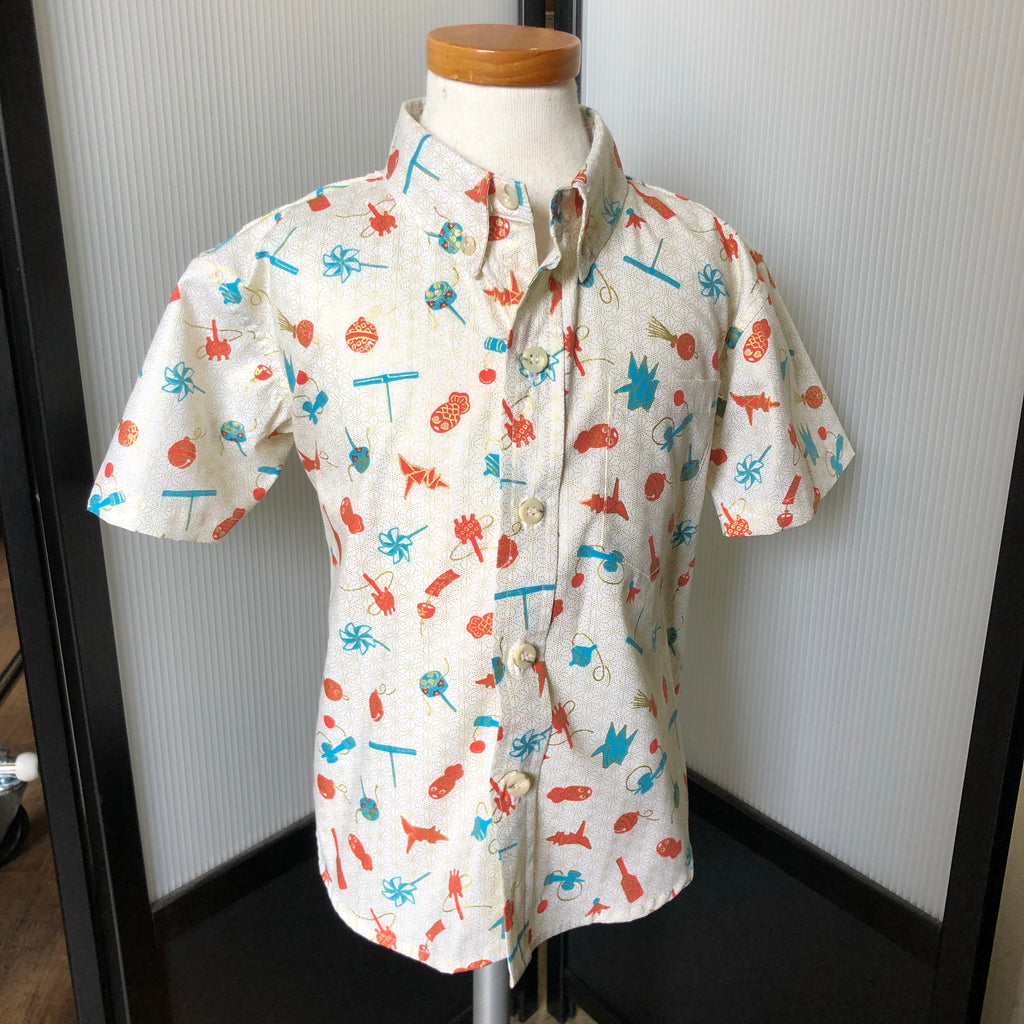 Boy's Shirt: Japanese Cotton, Omocha, Cream