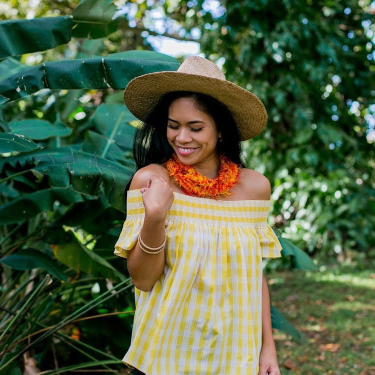 Palaka Ulu Top | Yellow