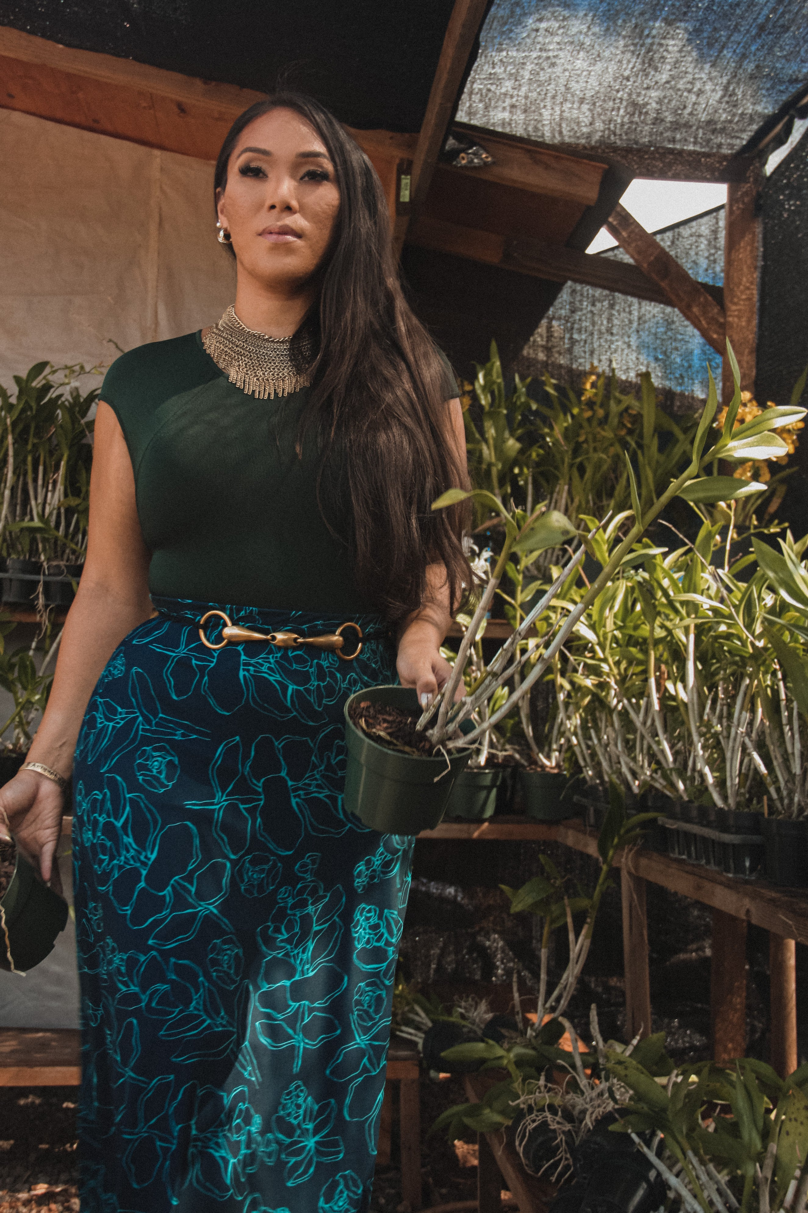 ʻApelila Skirt | Midnight Blue Likolani
