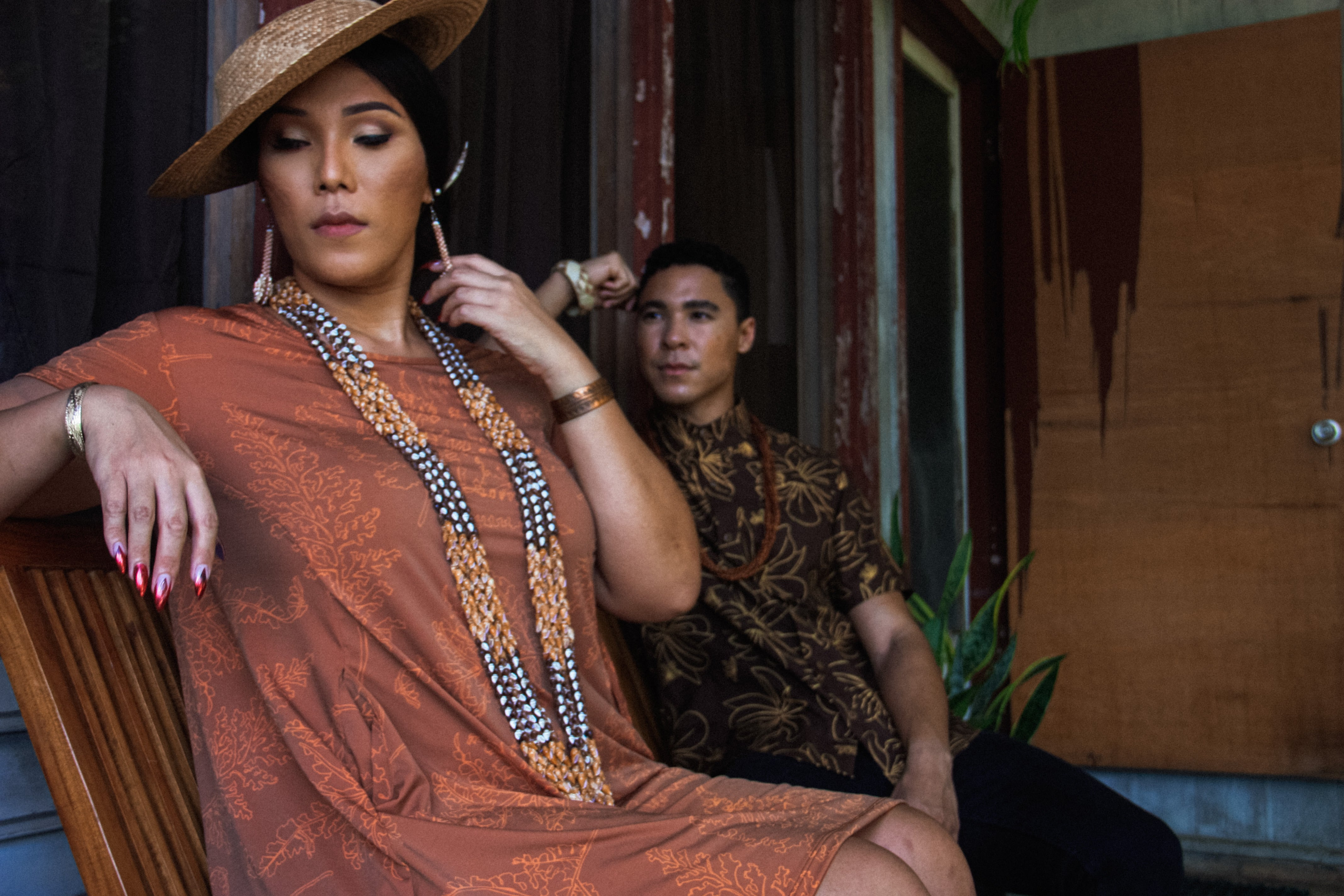 Pākeke Dress | Rust Palaʻā
