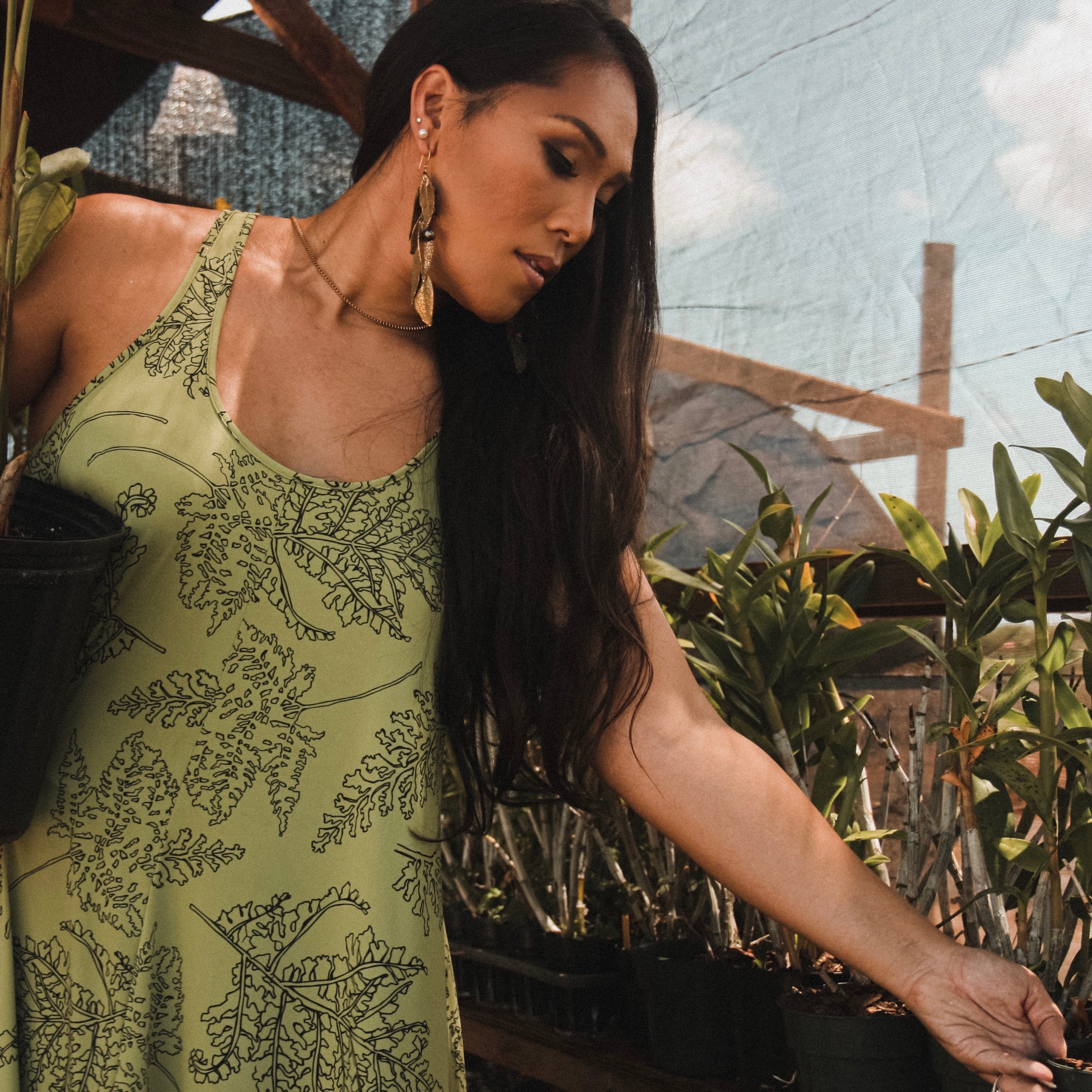 Lama Dress | Green Palaʻā