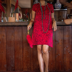 Pākeke Dress | Red Likolani