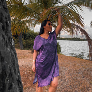 Launa Dress | Purple Palaʻā