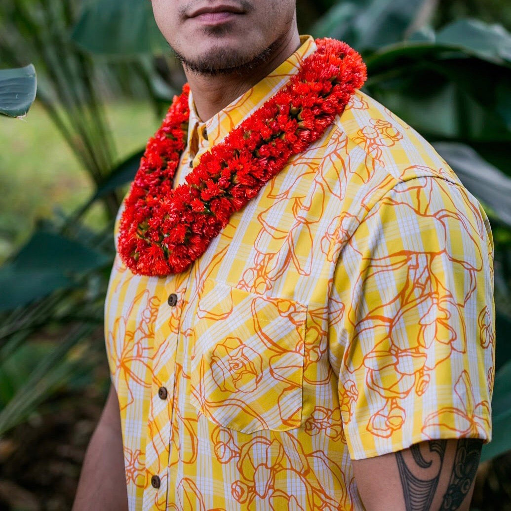 Palaka Shirt | Yellow Likolani
