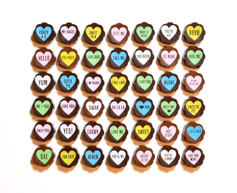 Chocolate Saying Hearts - Valentine
