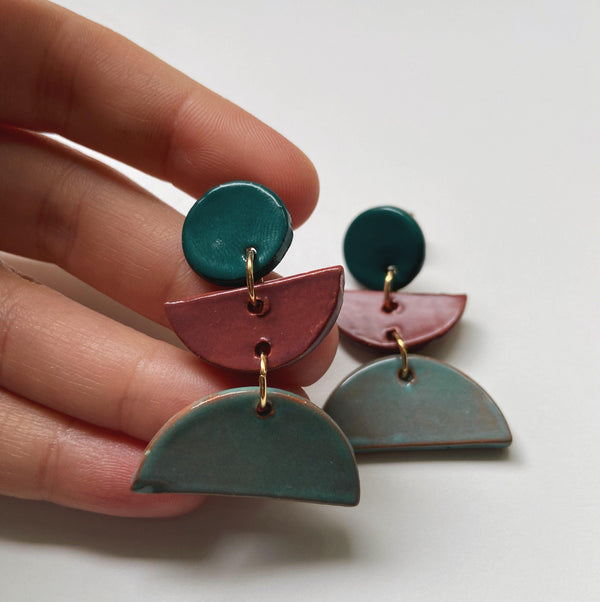 1987 - gloriafaye- ceramic earrings