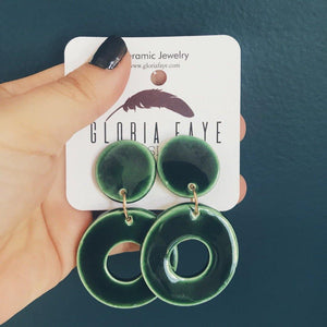 Emerald City Drop Earrings - gloriafaye