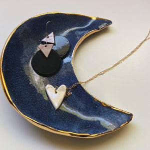 Blue Crescent Moon Dish - gloriafaye
