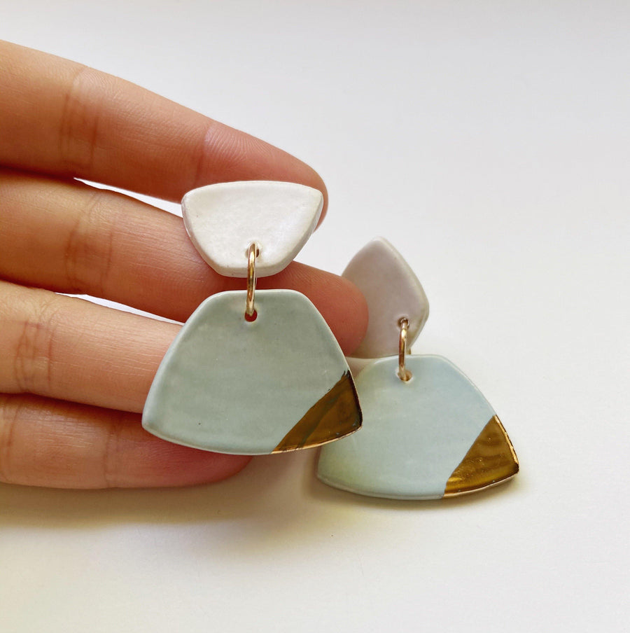CATTY- Light Turquoise Earrings - gloriafaye