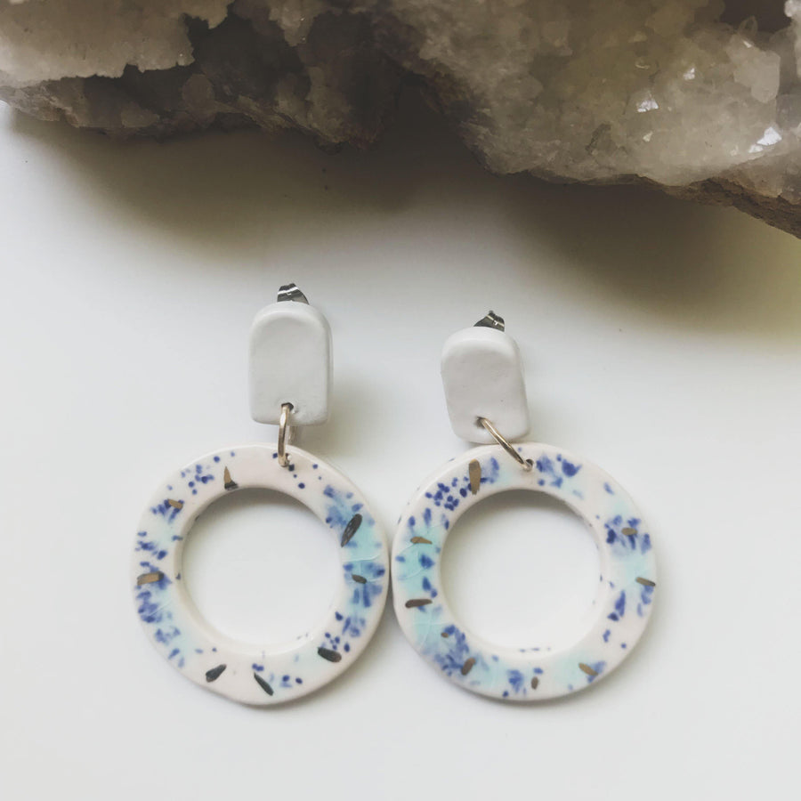 Donut Statement Earrings - Confetti - gloriafaye