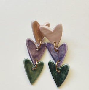 Ombre Heart Dangle - gloriafaye