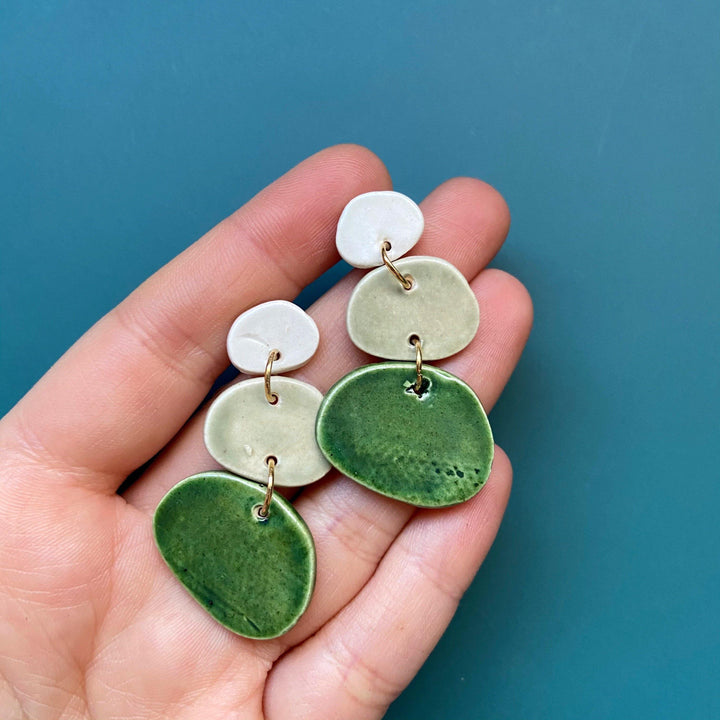 statement ceramic earrings