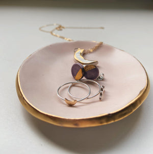 pastel pink and gold catch all dish - gloriafaye