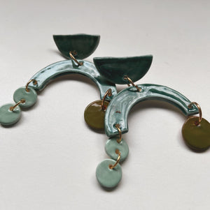 MYTH - Teal Asymmetrical Dangle - gloriafaye