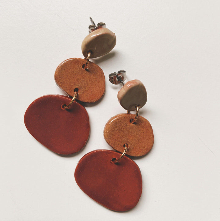 earth toned ceramic earrings
