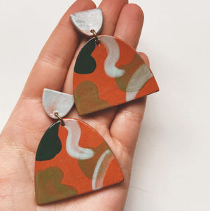 large ceramic earrings
