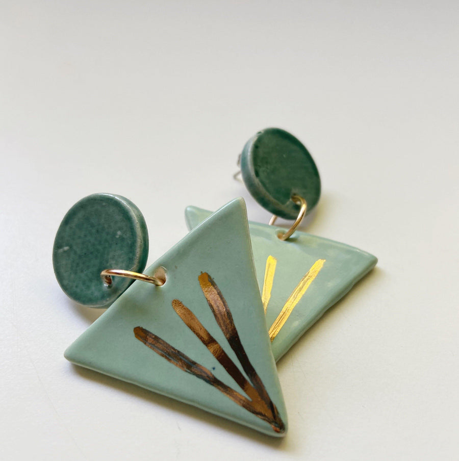 REFLEKTOR- Triangle ray earrings - gloriafaye