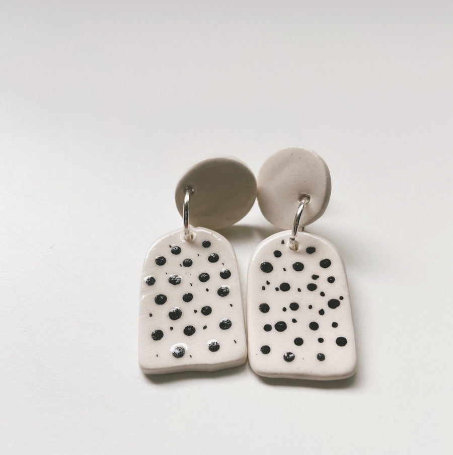 SHADOWS- polka dot earrings - gloriafaye