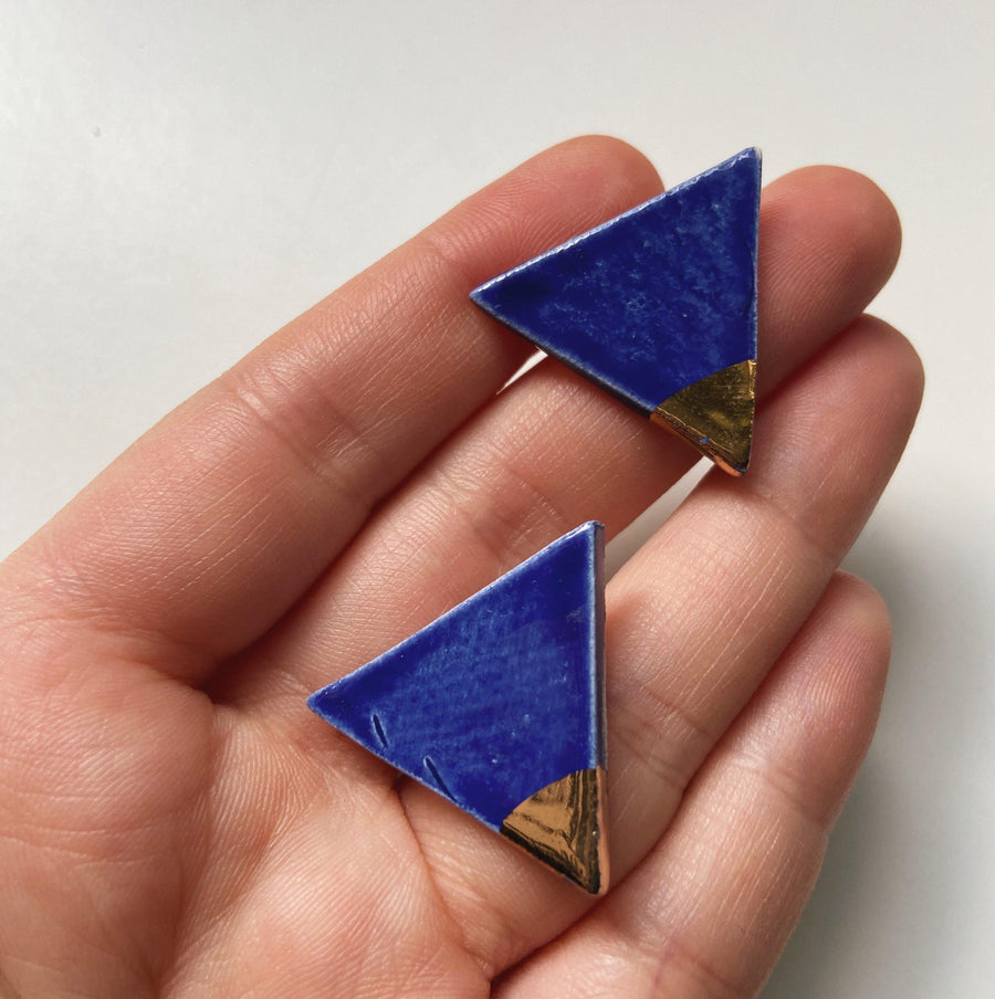 SHINE- Triangle Studs - gloriafaye