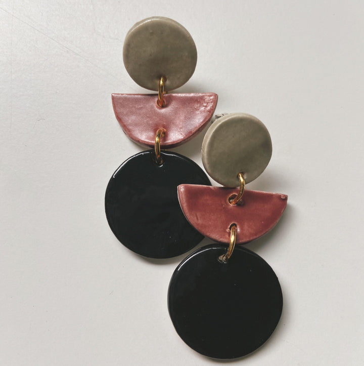 SILVIA - Black/Rose Statements - gloriafaye