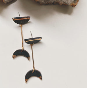 ceramic statement earrings