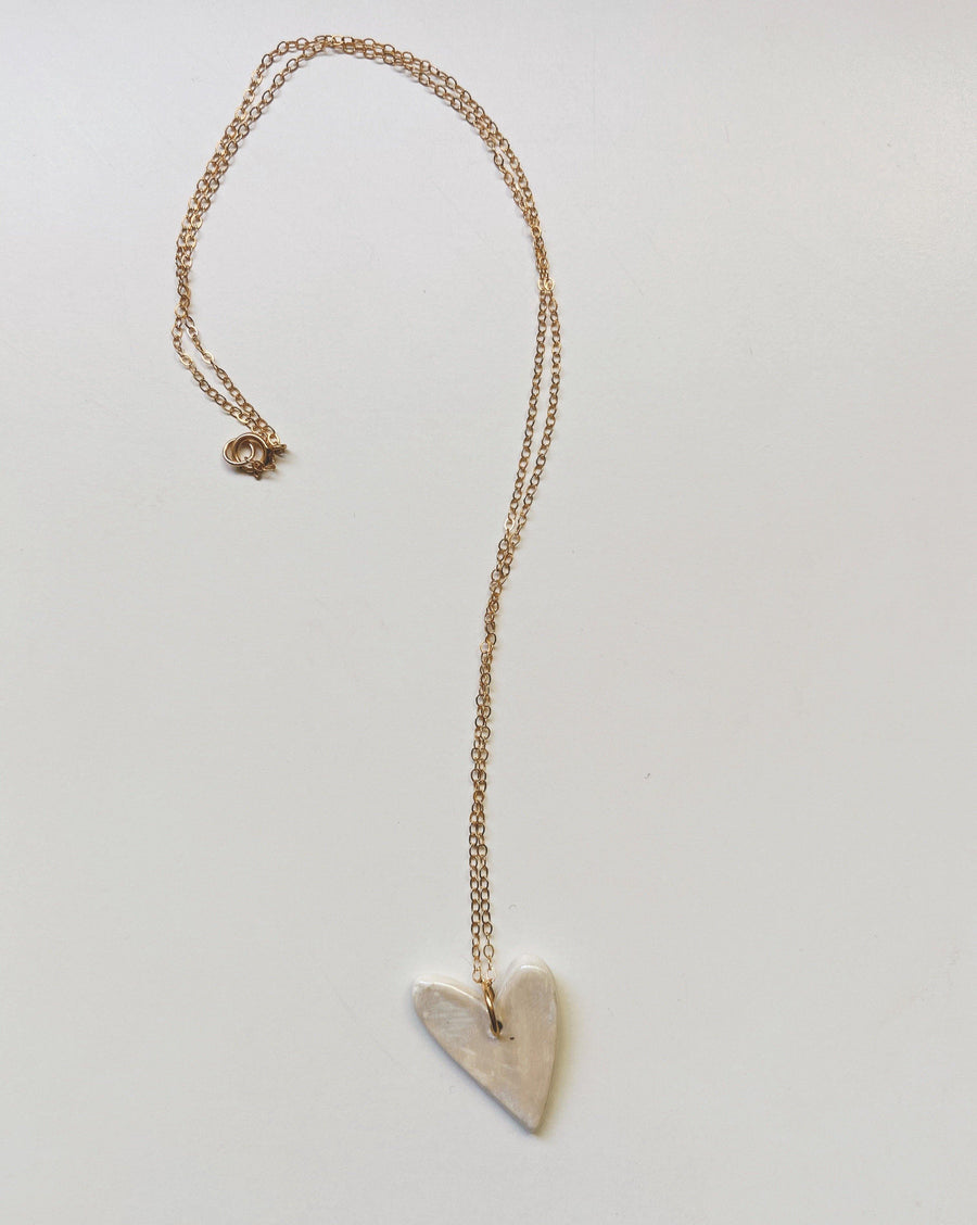 heart string necklace - gloriafaye