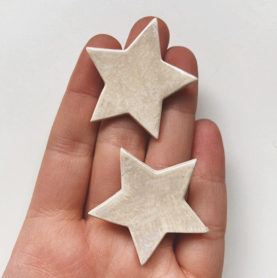 White Opal Star Studs - gloriafaye