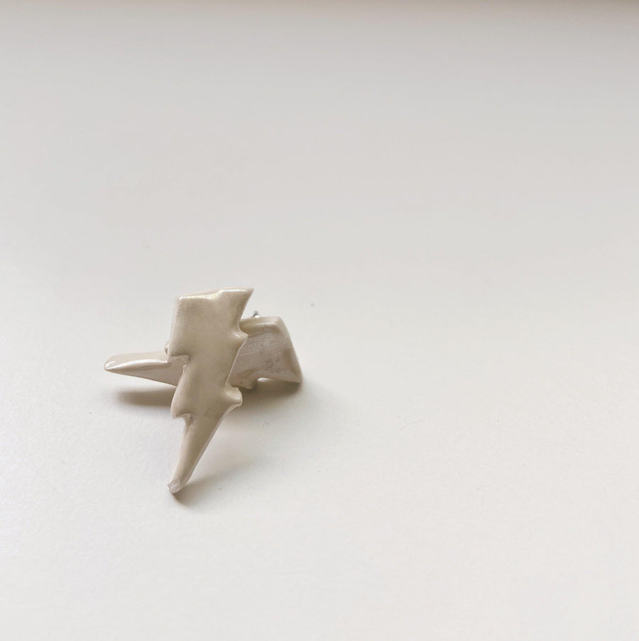 White Lightning Bolt Studs - gloriafaye