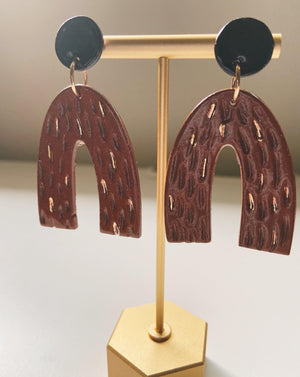 CINNAMON- blue statement earrings - gloriafaye